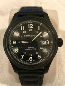 HAMILTON KHAKI FIELD TITANIUM BLACK PVD CASE 42MM BLACK DIAL H70575733
