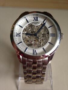ROTARY Mens Automatic Watch Skeleton GB03095/53.