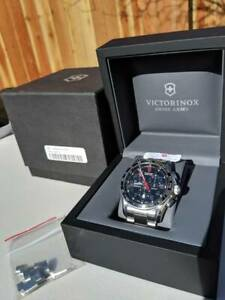 Victorinox Swiss Army Chrono Classic Black Dial Stainless Men's Steel Watch