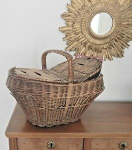 Antique basket with lid handmade most likely Swiss $59.00