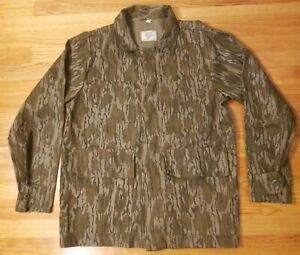 VTG MOSSY OAK HEAVY COTTON CAMO TREE STAND MEN'S BUTTON UP SZ M MADE IN USA