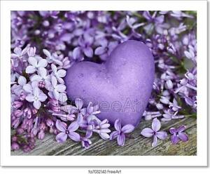 Heart And Lilac Art Print Home Decor Wall Art Poster
