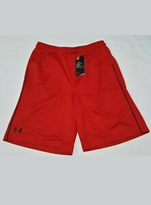 Under Armour Mesh Athletic Shorts Loose Heat Gear Red 1291314 Size XXL 2XL