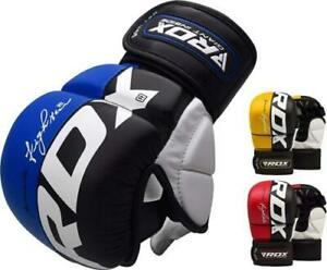 RDX MMA Gloves Training Martial Arts Punching Cage Fighting Muay Thai Sparring $19.47