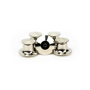 Silver Deluxe Locking Clasp Clutches Backings for Enamel Lapel Pin Pack of 5 $7.49