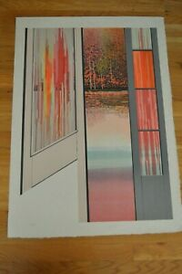 Rolland Golden quot; Parc Mysterieux quot; Original Lithograph Hand Signed amp; Numbered $111.93