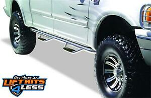 Go Rhino D24180PS Polished SS Dominator D2 Side Steps for 99-16 F-250 F-350 SD