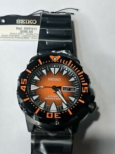 SEIKO MONSTER SRP311 SEIKO 2ND GENERATION PVD ORANGE AND BLACK MONSTER