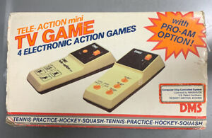 Tele-Action Mini TV Game 4 Electronic Games DMS Untested 1970's Complete