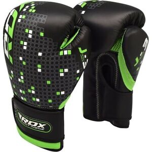 RDX Kids Boxing Gloves For Training amp; Muay Thai Maya Hide Leather Mitts Sparring $16.19