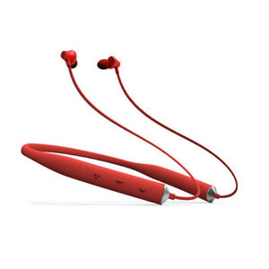 Universal Stereo sound with high definition Bluetooth Red Earphones