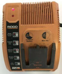 Ridgid Rapid Max R840091 9.6 V. 12 V. 14.4 V. 18 V. Battery Charger