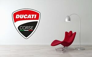 Ducati Logo Wall Decal Racing Bike Motorbike Vinyl Art Mural Sticker