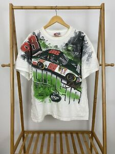 VTG Dale Earnhardt Jr #88 AMP Racing Nascar All Over Print T-Shirt Size XL