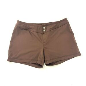 Athleta Brown Athletic Shorts Womens Size Medium Running Workout Yoga Stretch