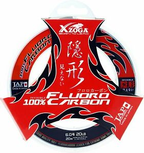XZOGA #x27;#x27;100% FLUOROCARBON#x27;#x27; Leader Line Ultra Strong Invisible 20m Big Game JP