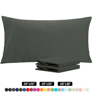 Ultra Soft Luxury Pillowcase Set of 2 King Size Brushed Microfiber Pillow Cases