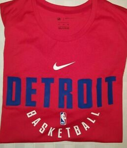 Lot of (10) NWT Detroit Pistons Nike Dri-fit SS Shirt - XLT Red