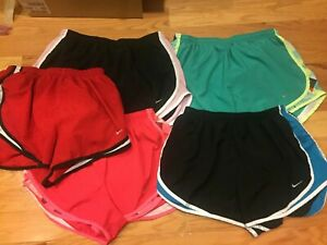 Womens Nike Tempo Dri-Fit Running Shorts Lined Sz Large Black Pink Blue Lot of 5