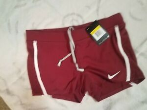 Nike tempo women's running volleyball shorts Dri-Fit University Red NWT Small