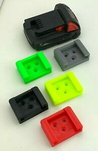 Milwaukee M18Lithium-Ion BatteryHolder Clip Mount18V 3D Printed Many Colors