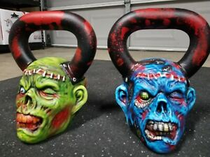 ONNIT Kettle Bells Zombie Edition WITH CUSTOM PAINTED ARTWORK ONE OF A KIND