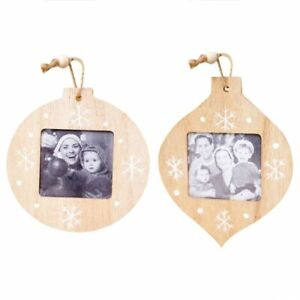 Christmas Wooden Photo Frame Pendant Tree Hanging Ornaments Decoration For Home