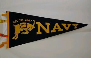 Vintage NAVY Football Flag Pennant 1960 28quot; Football RARE