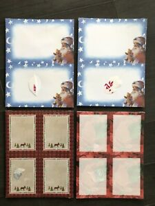 4 Packs Kinko's Seasonal Holiday Christmas Paper Cards Stationary New In Package