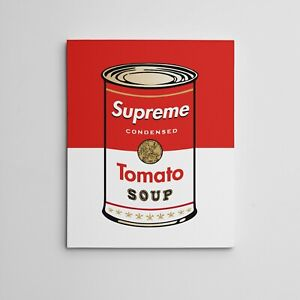 16X20quot; Gallery Art Canvas SUPREME X ANDY WARHOL Tomato Soup Campbells Can Series $35.00