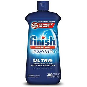 Finish Jet-Dry Ultra Rinse Aid Dishwasher Rinse Agent & Drying Agent (32 oz.)