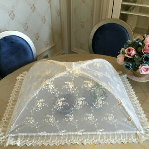 Pop-Up Mesh Screen Protect Food Covers Lace Table Net Umbrella Tent Picnic BBQ