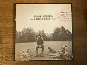 George Harrison SEALED 3 LP w Hype - All Things Must Pass - Apple STCH 639
