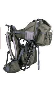 Clevr Baby Carrier Child Backpack for Hiking Camping with Detachable Bag Olive