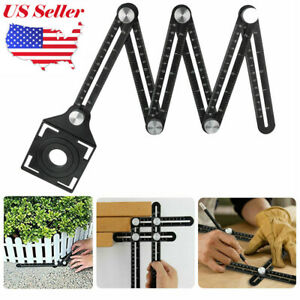 Universal Angleizer Ruler Template Tool with Multi Angle Measuring Aluminum NS $14.95