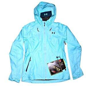 Under Armour Gore Tex Storm Running Shell Jacket Womens Size S Blue Waterproof $107.99