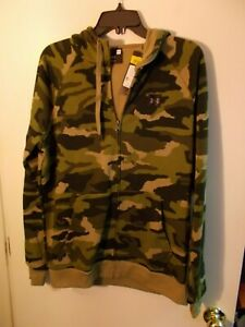 NWT Mens Under Armour Camo Full Zip Hoodie New $60 $35.00