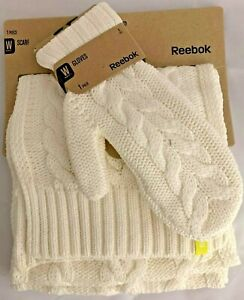 Knitted Scarf Mitten REEBOK Gloves Woolen Thick Cosy High Quality Gift Warm $12.88
