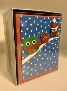 NEW The Gift Wrap Company Holiday Happy Owlidays Greeting Cards 20 Per Pack New $3.99