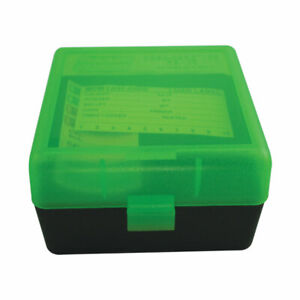 MTM PLASTIC AMMO BOXES (5) GREEN BLACK 100 Round 223  5.56  MORE-FREE SHIPPING