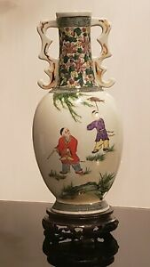 Chinese Antique Porcelain Vase with Stand $85.00