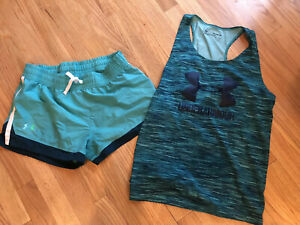 Under Armour Youth Girls XL Tank With Shorts