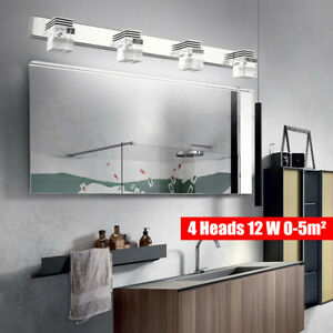 Modern Bathroom Crystal Light Wall LED Lamp Cabinet Mirror Wall Sconce Fixture