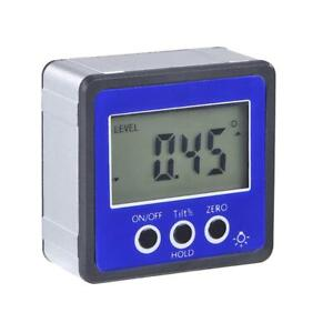 Magnetic Digital Protractor Inclinometer Level Box Angle Finder Box Blue N#S7 $11.42