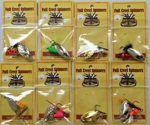 Lot Of 8 Inline Trout Spinners 14OZ 110 Different Options  American Made Lures