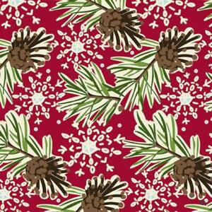 The Gift Wrap Company 9#x27; Gift Wrap Roll Pinecones amp; Flakes 76 3953