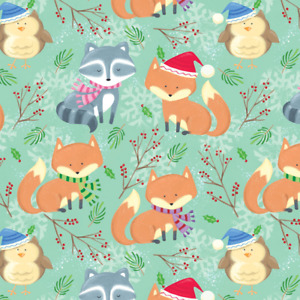 The Gift Wrap Company 8#x27; Gift Wrap Roll Winter Well Wishers 76 3621