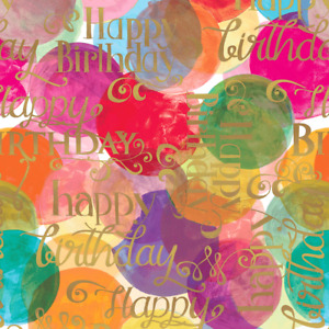 The Gift Wrap Company 5#x27; Gift Wrap Roll Watercolor Wishes 52 9760