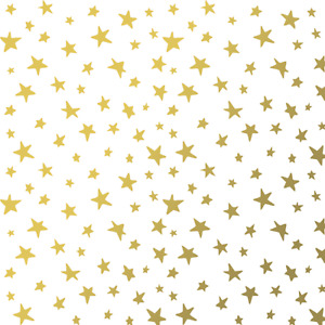 The Gift Wrap Company 5#x27; Gift Wrap Roll Golden Stars 51 3817