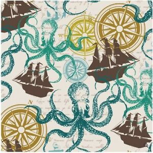 The Gift Wrap Company 5#x27; Gift Wrap Roll Nautical Adventure 51 9787